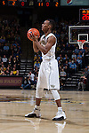 Greg McClinton (11) of the Wake Forest Demon Deacons during first half action against the North Carolina Tar Heels at the LJVM Coliseum on January 21, 2015 in Winston-Salem, North Carolina.  The Tar Heels defeated the Demon Deacons 87-71.  (Brian Westerholt/Sports On Film)