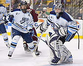 Steve Mullin (Benn Ferreiro) Ben Bishop - The Boston College Eagles defeated the University of Maine Black Bears 4-1 in the Hockey East Semi-Final at the TD Banknorth Garden on Friday, March 17, 2006.