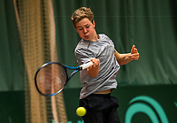 Netherlands, The Hague,  March 10, 2017, Tennis,  National Indoor Junior Championships, NOJK, Lodewijk Weststrate (NED)<br /> Photo: Tennisimages/Henk Koster