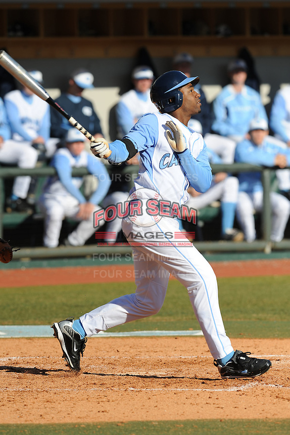 Brian Goodwin (Right Fielder) North Carolina Tar Heels (Photo by Tony Farlow/Four Seam Images)