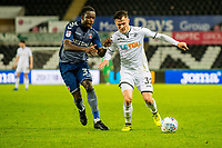 Liam Cullen of Swansea City in action during the Checkatrade 2rd round match between Swansea City U21's and Charlton Athletic at the Liberty Stadium, Swansea on Tuesday December 05 2017