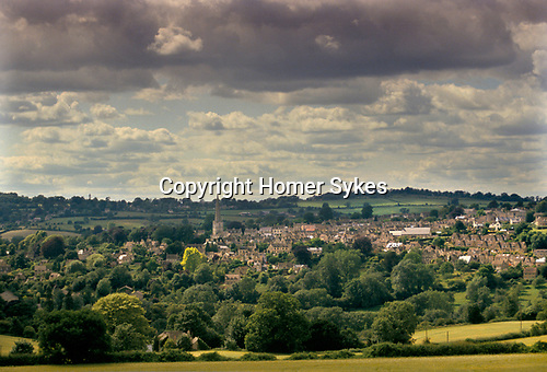 LAURIE LEE COUNTRY 1994, PAINSWICK VILLAGE, AS SEEN FROM SLAD - COTSWOLDS, GLOUCESTERSHIRE