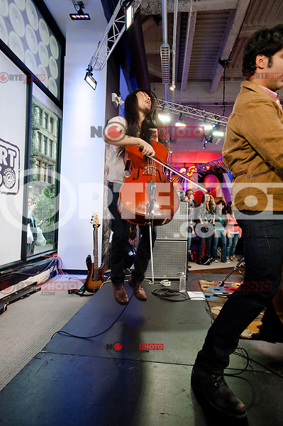 The Avett Brothers perform During The MLB Fan Cave Concert Series in New York City. May 8, 2012. ©Kristen Driscoll/MediaPunch Inc.