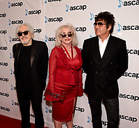 BEVERLY HILLS, CALIFORNIA - MAY 16: Chris Stein, Debbie Harry and Clem Burke of Blondie attend the 36th Annual ASCAP Pop Music Awards at The Beverly Hilton Hotel on May 16, 2019 in Beverly Hills, California. (Photo by Frank Micelotta/PictureGroup)