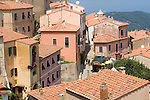 Italy, Elba, Marciana, Italian Hill Towns, Stone steps, Northwest Coast Elba, Province of Livorno; Italy, Mediterranean Islands, Europe;.
