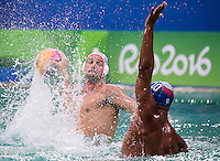 7 JANOVIC Mladan MNE<br /> MNE (white cap) vs ITA (blue cap)<br /> Rio de Janeiro  XXXI Olympic Games <br /> Olympic Aquatics Stadium <br /> waterpolo men preliminary round 10/08/2016<br /> Photo Giorgio Scala/Deepbluemedia/Insidefoto