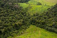 Área desmatada para criação de gado no extremo norte do país.<br /> Oiapoque, Amapá, Brasil<br /> Foto Paulo Santos<br /> 09/05/2012