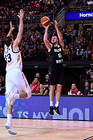 New Zealand Tall Blacks' Tom Vodanovich in action during the the FIBA World Cup Basketball Qualifier - NZ Tall Blacks v Jordan at Horncastle Arena, Christchurch, New Zealand on Thursday 29 November  2018. <br /> Photo by Masanori Udagawa. <br /> www.photowellington.photoshelter.com