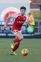 Lewis Coyle of Fleetwood Town during the Sky Bet League 1 match between Fleetwood Town and MK Dons at Highbury Stadium, Fleetwood, England on 24 February 2018. Photo by David Horn / PRiME Media Images