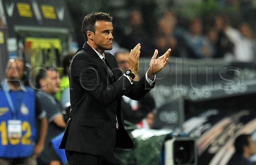 17.09.2011. Milan, Italy.   Luis Enrique Coach Roma Stadio Giuseppe Meazza Series A 2011 2012  Inter vs Roma