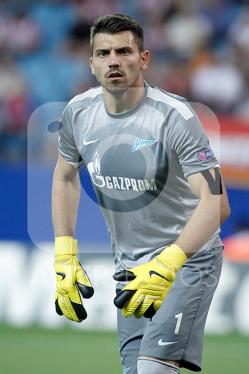 Football Club Zenit's Yuri Lodygin during Champions League 2013/2014 match.September 18,2013. (ALTERPHOTOS/Acero)