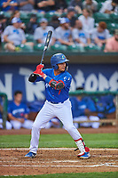 Ramon Rodriguez (7) of the Ogden Raptors bats against the Grand Junction Rockies at Lindquist Field on June 17, 2019 in Ogden, Utah. The Rockies defeated the Raptors 9-0. (Stephen Smith/Four Seam Images)