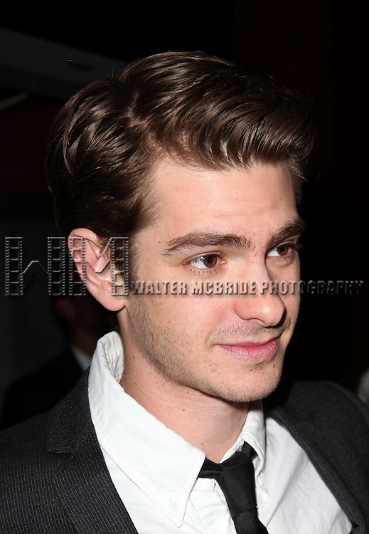 Andrew Garfield.at the New York Drama Critics' Circle Awards at Angus McIndoe in New York City on 5/14/2012..attending the New York Drama Critics' Circle Awards at Angus McIndoe in New York City on 5/14/2012.