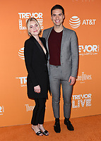02 December 2018 - Beverly Hills, California - AJ Michalka, Raymond Braun. 2018 TrevorLIVE Los Angeles held at The Beverly Hilton Hotel. <br /> CAP/ADM/BT<br /> &copy;BT/ADM/Capital Pictures