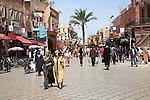 Pedestrians Rue Bab Agnaou, Marrakech, Morocco, north Africa