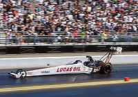 Jul 31, 2016; Sonoma, CA, USA; NHRA top fuel driver Richie Crampton during the Sonoma Nationals at Sonoma Raceway. Mandatory Credit: Mark J. Rebilas-USA TODAY Sports