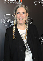 NEW YORK, NY - OCTOBER 19: Patti Smith attends Keep A Child Alive's Black Ball 2016 at Hammerstein Ballroom on October 19, 2016 in New York City. Photo by John Palmer/MediaPunch