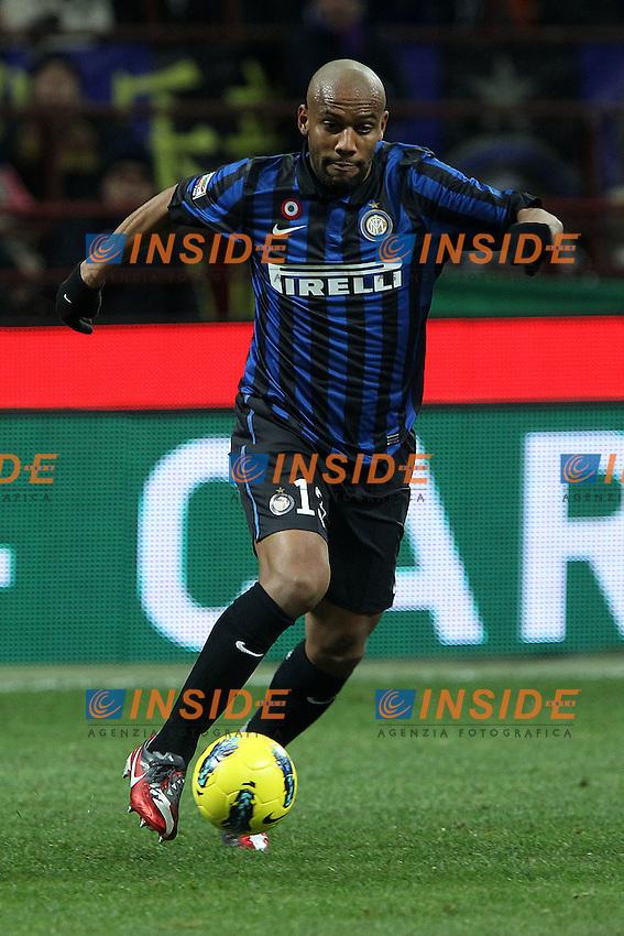 """Douglas Maicon Inter.Milano 07/01/2012 Stadio """"S.Siro"""".Football / Calcio Serie A 2011/2012.Inter vs Parma.Foto Insidefoto Paolo Nucci"""