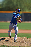 Texas Rangers pitcher Nick Green (50) during an instructional league game against the San Diego Padres on October 9, 2015 at the Surprise Stadium Training Complex in Surprise, Arizona.  (Mike Janes/Four Seam Images)