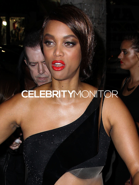 HOLLYWOOD, LOS ANGELES, CA, USA - AUGUST 20: Model Tyra Banks arrives at the America's Next Top Model Cycle 21 Premiere Party held at Supperclub on August 20, 2014 in Hollywood, Los Angeles, California, United States. (Photo by Xavier Collin/Celebrity Monitor)