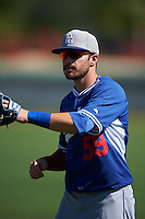 Los Angeles Dodgers Federico Giordani (59) warms up before an instructional league game against the Milwaukee Brewers on October 13, 2015 at Cameblack Ranch in Glendale, Arizona.  (Mike Janes/Four Seam Images)