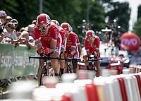 Team cofidis<br /> <br /> <br /> Stage 3 (Team Time Trial): Cholet > Cholet (35km)<br /> <br /> 105th Tour de France 2018<br /> ©kramon