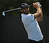 Dustin Johnson tees off from the 2nd Hole during a practice round prior to the U.S. Open Championship at Shinnecock Hills Golf Club in Southampton on Monday, June 11, 2018.
