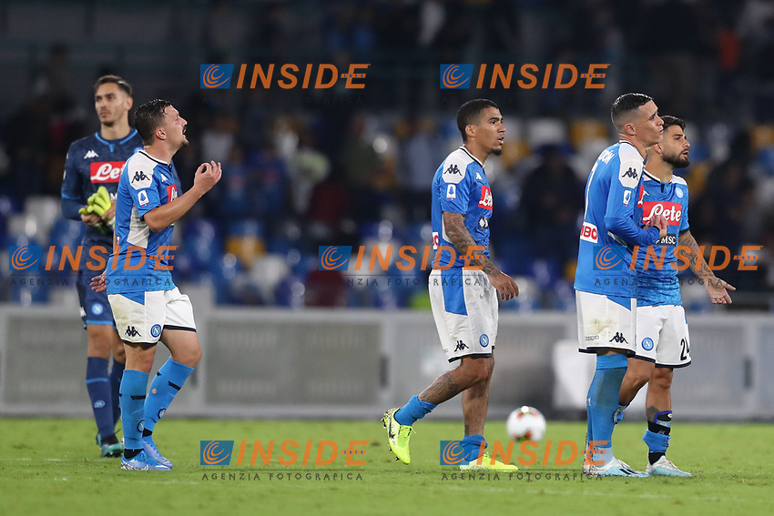 Napoli dejection<br /> Napoli 25-9-2019 Stadio San Paolo <br /> Football Serie A 2019/2020 <br /> SSC Napoli - Cagliari SC<br /> Photo Cesare Purini / Insidefoto