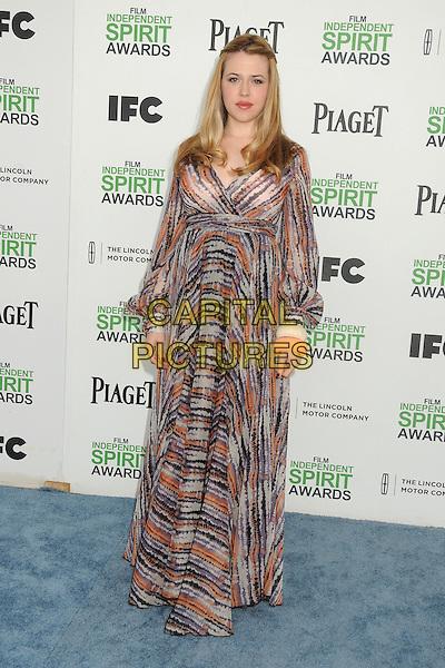 1 March 2014 - Santa Monica, California - Majandra Delfino. 2014 Film Independent Spirit Awards - Arrivals held at Santa Monica Beach. <br /> CAP/ADM/BP<br /> &copy;Byron Purvis/AdMedia/Capital Pictures