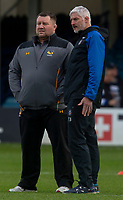 Wasps' Head Coach Dai Young talks to Bath Rugby's Head Coach Todd Blackadder<br /> <br /> Photographer Bob Bradford/CameraSport<br /> <br /> European Rugby Heineken Champions Cup Pool 1 - Bath Rugby v Wasps - Saturday 12th January 2019 - The Recreation Ground - Bath<br /> <br /> World Copyright &copy; 2019 CameraSport. All rights reserved. 43 Linden Ave. Countesthorpe. Leicester. England. LE8 5PG - Tel: +44 (0) 116 277 4147 - admin@camerasport.com - www.camerasport.com