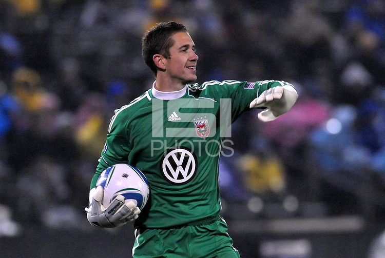 Troy Perkins...Kansas City Wizards defeated D.C Utd 4-0 in their home opener at Community America Ballpark, Kansas City, Kansas.