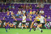 Orlando, FL - Saturday August 12, 2017:  during a regular season National Women's Soccer League (NWSL) match between the Orlando Pride and Sky Blue FC at Orlando City Stadium.