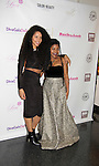 Nancy Brito with Sade at Color of Beauty Awards hosted by VH1's Gossip Table's Delaina Dixon and Maureen Tokeson-Martin on February 28, 2015 with red carpet, awards and cocktail reception at Ana Tzarev Gallery, New York City, New York.  (Photo by Sue Coflin/Max Photos)