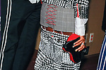 """Singer, actress Janelle Monáe - purse detail at the Alvin Ailey American Dance Theater """"Modern American Songbook"""" opening night gala benefit at the New York City Center on November 29, 2017."""