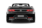 Straight rear view of 2017 Mercedes Benz S-Class S65-AMG 2 Door Convertible Rear View  stock images