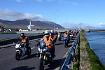 30-4-2017: Motorbikers ride past the scenic Blennerville Windmill along Tralee Bay in County Kerry on Sunday morning as they head off on the  'RevUp4DSI' / Down Syndrome 3 Day Mystery BikeTour all around Ireland. Over 140 bikers are taking part in the three-day annual motorbike event, which started in Dublin on Saturday and continues with a mystery 1,000km tour around Ireland to raise vital funds for the charity.<br /> Photo: Don MacMonagle<br /> <br /> repro free photo from Down Syndrome<br /> Further info:  Cathy Gray- Cathy@downsyndrome.ie<br /> M: (086) 046 3702 <br /> <br /> FULL PRESS RELEASE:<br /> Annual three day motorcycle event raises much needed funds for DSI<br /> Tralee, Sunday 30th April 2017: Over a hundred and forty motorcyclists hit the open road this bank holiday weekend for the 'RevUp4DSI' fundraising event in aid of Down Syndrome Ireland. Motorcyclists from all over Ireland donned their leathers to explore the mysteries of Ireland's countryside, all while fundraising for the charity which supports thousands of people with Down syndrome and their families across Ireland. This hugely exciting motorcycle event offered some of the best scenic views in Ireland and those taking part got the chance to really appreciate them.<br /> <br /> The three-day mystery tour, which kicked off in Joe Duffy BMW in Finglas, Dublin on Saturday morning, 29th April, incorporated three stages taking in over 1,000 km of stunning Irish landscape. The route was unveiled to the motorcyclists for the first time on Saturday morning as they headed off to Tralee via Inistioge and Lismore Castle. Today's (Sunday) route, the participants head off on a tour of Kerry taking in the beautiful surroundings of Kenmare and Kinsale with a brief stop at Killarney along the way. Playing cards will be distributed at checkpoints during today's run with super raffle prizes for the winning hands. Monday's route will see the motorcyclists head back to Dublin, via the idyllic surroundings of the Rock of Cashel and Rathangan.                  <br /> <br />