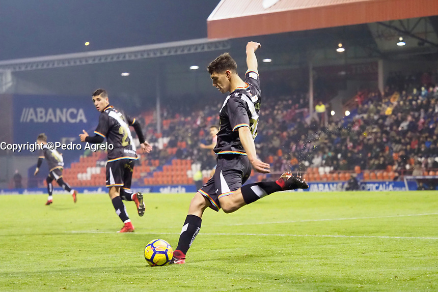 Fecha: 22-12-2017.-  Pruebas Olympus OMD 1 Mark II, futbol CD Lugo vs Rayo Vallecano