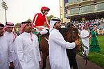 RIYADH,SAUDI ARABIA-FEB 29: Port Lions,ridden by Adrie de Vries,wins the Mohamed Yousuf Naghi Motors Cup at King Abdulaziz Racetrack on February 29,2020 in Riyadh,Saudi Arabia. Kaz Ishida/Eclipse Sportswire/CSM