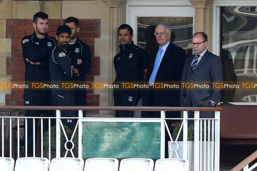 Former Prime Minister Sir John Major (2nd R) looks on during Surrey CCC vs Middlesex CCC, Friendly Match Cricket at the Kia Oval on 22nd March 2016