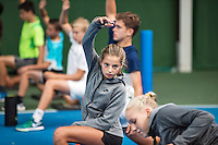 Almere, Netherlands, 24 september 2016, fotoshoot Jong Oranje, warming up with fitness trainer Miguel Janssen<br /> Photo: Tennisimages.com/Henk Koster