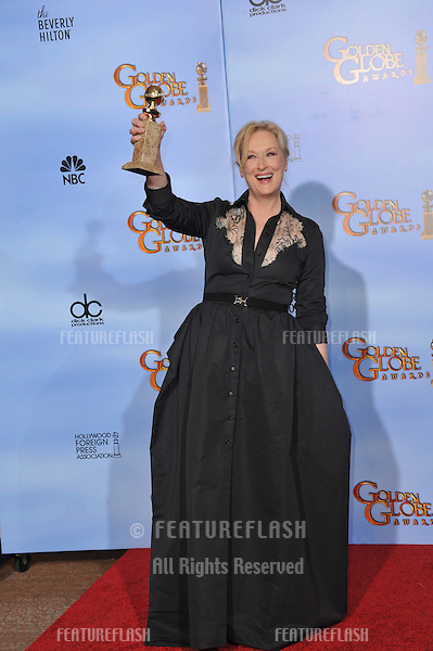 Meryl Streep at the 69th Golden Globe Awards at the Beverly Hilton Hotel..January 15, 2012  Beverly Hills, CA.Picture: Paul Smith / Featureflash