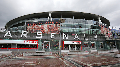 April 26th 2017, The Emirates, Arsenal, London England, EPL Premier League football, Arsenal FC versus Leicester City; General view of Emirates Stadium before kick off
