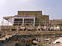 Holidaymakers sitting looking out over St Ives Harbour Cornwall..©shoutpictures.com..john@shoutpictures.com