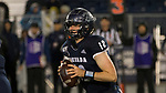 Nevada quarterback Carson Strong (12) rolls out against Hawaii in the first half of an NCAA college football game in Reno, Nev., Saturday, Sept. 28, 2019. (AP Photo/Tom R. Smedes