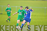 Kingdom Boys Darren O'Brien and Killarney Athletic's Aidan Slattery.
