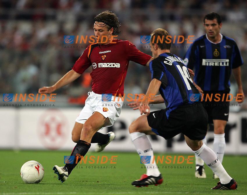 Roma 12/6/2005 Coppa Italia finale Andata - Italy's Cup Final 1st Leg<br /> Roma Inter 0-2<br /> Antonio Cassano (Roma) and Esteban CAmbiasso (Inter)<br /> Photo Andrea Staccioli Insidefoto
