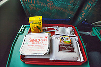 Agra, India.  Breakfast Served on the Morning Express Train from Delhi to Agra.