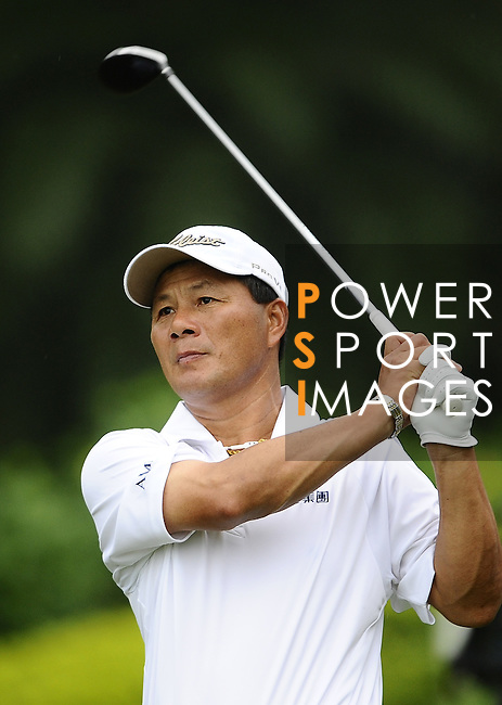TAIPEI, TAIWAN - NOVEMBER 18:  Lu Chien Soon of Taiwan tees off on the 14th hole during day one of the Fubon Senior Open at Miramar Golf & Country Club on November 18, 2011 in Taipei, Taiwan. Photo by Victor Fraile / The Power of Sport Images