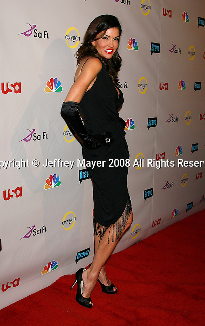Model Janice Dickinson arrives at the NBC Universal 2008 Press Tour All-Star Party at The Beverly Hilton Hotel on July 20, 2008 in Beverly Hills, California.