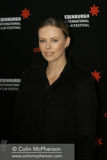American actress Charlize Theron arriving at Cineworld in Edinburgh for the premiere of her latest film East Of Havana. The  showing was one of the highlights of this year's Edinburgh International Film Festival. The Festival ran from 14- 27th August and featured films from across the world.